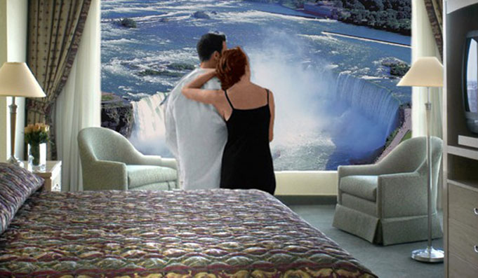 niagara falls from the comfort of your room
